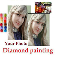 30-100CM Photo Custom 5D Diamond Painting Full Drill DIY Embroidery Cross Stitch