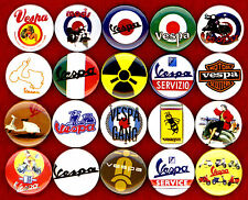Vespa x 20 NEW buttons pins badges scooter ska mod target rockabilly