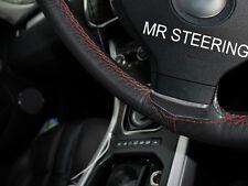 Para Subaru Tribeca 06+ Cubierta del Volante Cuero Negro Rojo Oscuro Doble Puntada