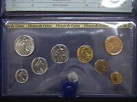 1981 FRANCIA SET COMPLETO 9 MONETE SERIE FRANCHI FDC in confezione ufficiale