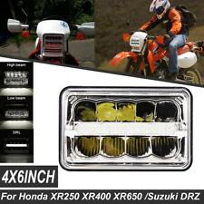 4x6INCH CREE LED Headlight DRL Hi-Lo Beam For Honda XR250 XR400 XR650 Suzuki DRZ