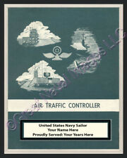 AIR TRAFFIC CONTROLLER Rate Print 1 Personalized on Canvas US Navy Veterans