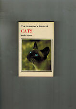 THE OBSERVER'S BOOK OF CATS - 1975 in dustwrapper