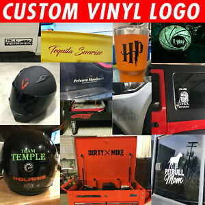 Custom Logo/Symbol Decal Window Sticker   You pick Color & Size   FAST SHIPPING!