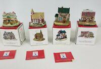 Liberty Falls Miniature Village Collection / Lot (1994 - 1995) x 4 Original Box