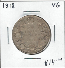 Canada 1918 Silver 50 Cents VG Lot4