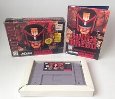 Super Nintendo SNES Judge Dredd Complete in Box CIB