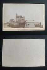 France, Sainte-Adresse, pain de sucre et chapelle Vintage albumen print CDV.