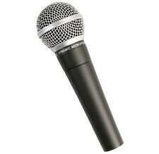 Pulse PM580 Dynamic Microphone with 5 Metre XLR-XLR Cable and Mic Clip. New