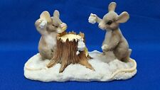 Charming Tails Artist Signed Dean Griff 1999 Issued By Silvestri Snowball Fight