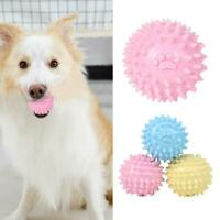 TPR Pet Toy Footprint Thorn Ball Dogs Bite Chew Molar Tooth Cleaning Toys Gift