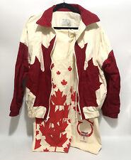 Vtg Limited Ed Canada Hockey Jacket Shorts Sweet Sack Linebacker Maple Leaf L  T