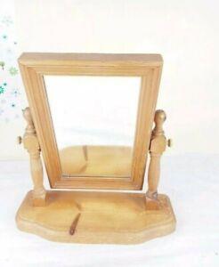 pine Swivel dressing table vintage mirror antique wood