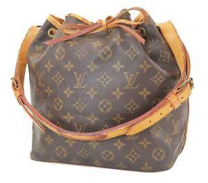 Authentic LOUIS VUITTON Petit Noe Monogram Shoulder Tote Bag Purse #39971