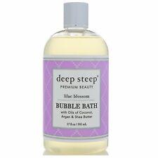 Deep Steep Bubble Bath Lilac Blossom 17 fl oz 503 ml Cruelty-Free, Vegan