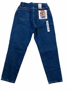 Vintage Wrangler Bleu Femme Jean Taille 14x30 Neuf USA Mom Haute Souple Pierre
