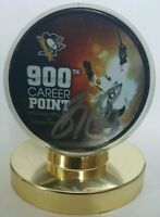 Sidney Crosby signed 900 career point Pittsburgh Penguins  puck RARE hof
