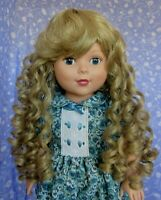 Unbranded CHERYL Blond Doll Wig Full Cap Size 12-13 Long, Curly + Bangs