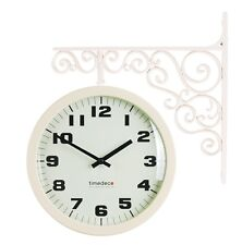 Antique Art Design Double Sided Wall Clock Station Clock Home Decor - AIvory