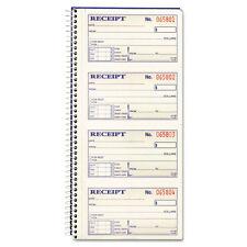 Adams Two-Part Rent Receipt Book, 2-3/4 x 5-1/4, Two-Part Carbonless, 200 Forms