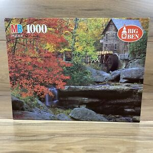 MB Big Ben 1000 Pieces Jigsaw Puzzle Glade Creek Grist Mill West Virginia Sealed