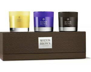 Molton Brown Mini Candle Gift Set Collection Single Wick 3 x 30g Gift Box