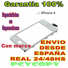 PANTALLA TACTIL PARA IPHONE 4 4G MARCO DIGITALIZADOR CRISTAL TOUCH SCREEN  BLANC