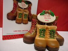 HALLMARK 2013 Like Dad Like Son Boots Ornament new in Box