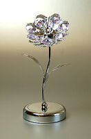 Crystocraft Lilac Sunflower with Crystals
