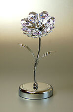 """Crystocraft """"Lilac Sunflower"""" Made with Swarovski Crystals"""