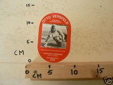 STICKER,DECAL OTTO VERSEFELD DOELMAN HELMOND-SPORT VOETBAL SOCCER