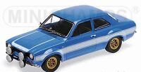 MINICHAMPS 100 688102 FORD ESCORT Mk1 RS1600 FAV model car blue 1970 F&F 1:18th