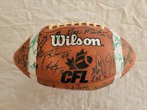 Cfl Canadian Football League Team Autographed Signed Football