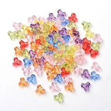 LOT MIX de 200 Perles Acryliques Transparentes Multicolores 10 x 10mm