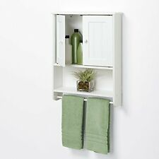 Bathroom Wall Mount Over Medicine Cabinet Toilet Storage Shelf Organizer White