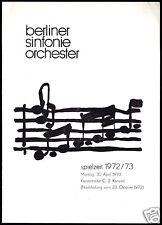 Konzertprogramm, Berliner Sinfonie Orchester, 1972/73, April 1973