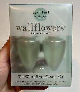Bath Body Works SEA ISLAND COTTON Wallflower Refill Bulbs 2 PACK RARE HTF