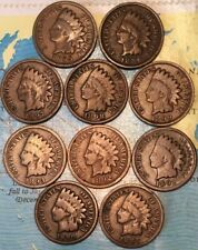1883-1899  (10) DIFFERENT PRE 1900 INDIAN HEAD CENTS//PLUS 1 OZ COPPER BULLION!