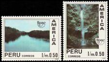 ✔️ PERU 1991 - UPAEP NATURE RIVER WATERFALL - MI. 1454/1455 ** MNH OG [101.006]
