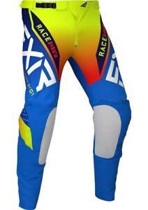 FXR Racing Helium Blue / Hi Vis Moto 21 MX Pant FREE Shipping