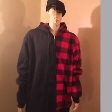 Maxxsel Black/red checker jacket Reversible hooded 5XL