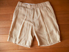 "Bermuda homme beige soie et lin ""Polo by Ralph Lauren"", taille 31 (40-41)"
