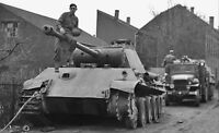 WWII photo abandoned Wehrmacht tank Panther Pz. Kpfw. V Ausf. G world war 42b