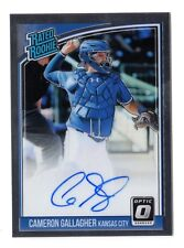 CAMERON GALLAGHER MLB 2018 DONRUSS OPTIC RATED ROOKIES SIGNATURES (K.C.ROYALS)