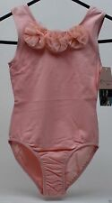 Danskin Freestyle Girls' Pink Flower Sleeveless Leotard Size Small 6/6X NWT