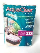 AquaClear 20 Aquarium Air Pump Output 20 Gal w/ Silencer System