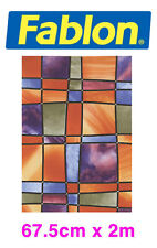 Fablon Self-Adhesive Window Film Stained Glass FAB11896 Barcelona 67.5cm X 2m