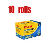 10 Rolls Kodak Ultramax 400 35mm 135-36EXP Color Negative Film Fresh 2020