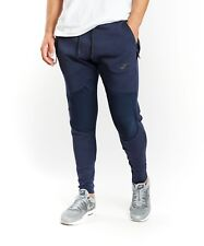 Men's Nike Tech fleece Panneau Pantalon de survêtement Obsidienne Slim Sz Large 805658-451