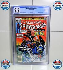 """AMAZING SPIDER-MAN #171 CGC 9.2 8/77🌟""""SIDE BY SIDE WITH NOVA""""🌟FREE SHIPPING"""